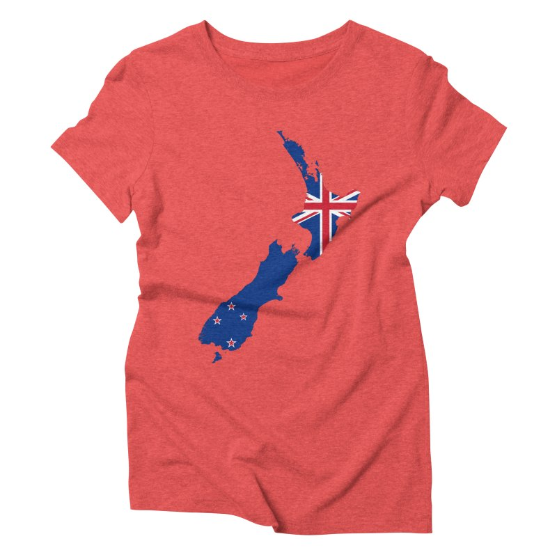 New Zealand Patriot Apparel & Accessories Women's Triblend T-Shirt by Vectors NZ
