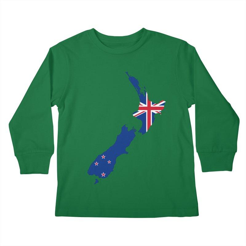 New Zealand Patriot Apparel & Accessories Kids Longsleeve T-Shirt by Vectors NZ