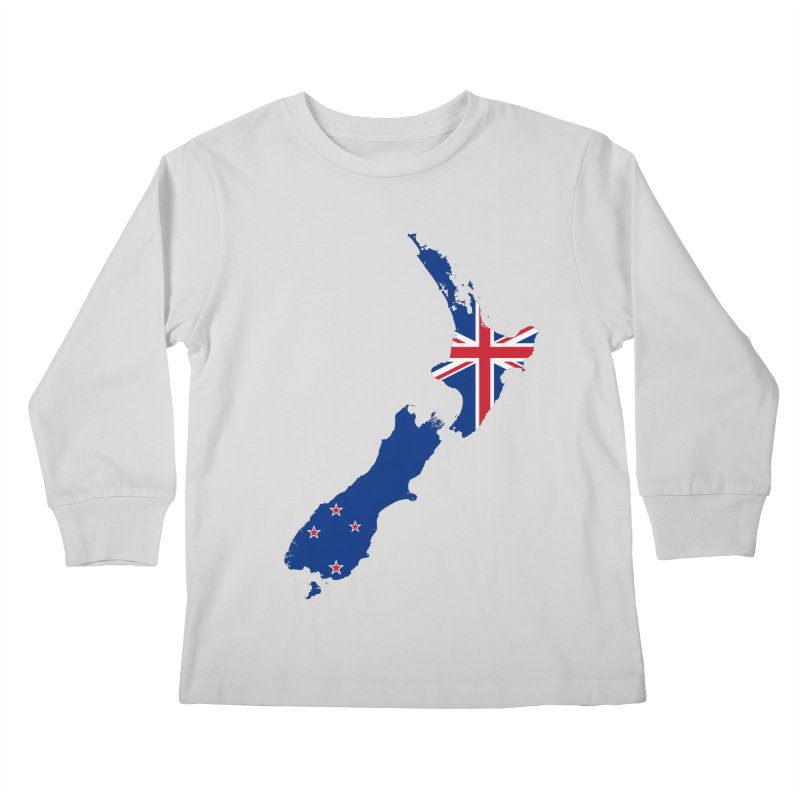 New Zealand Patriot Apparel & Accessories Kids Longsleeve T-Shirt by Vectors NZ