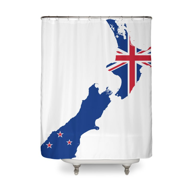 New Zealand Patriot Home Products Home Shower Curtain by Vectors NZ