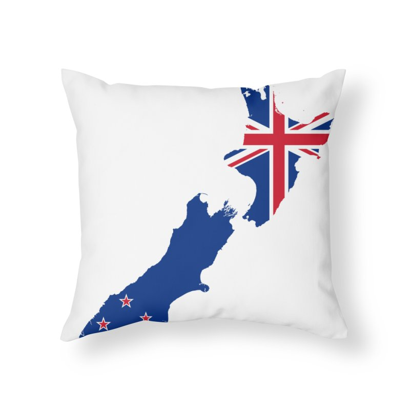 New Zealand Patriot Home Products Home Throw Pillow by Vectors NZ