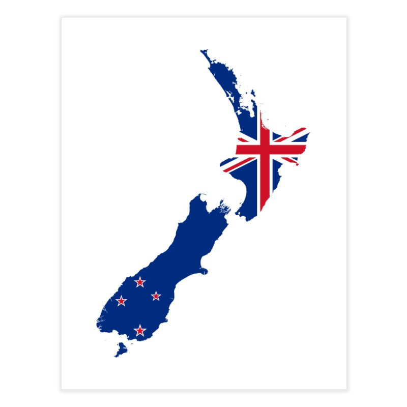 New Zealand Patriot Home Products Home Fine Art Print by Vectors NZ