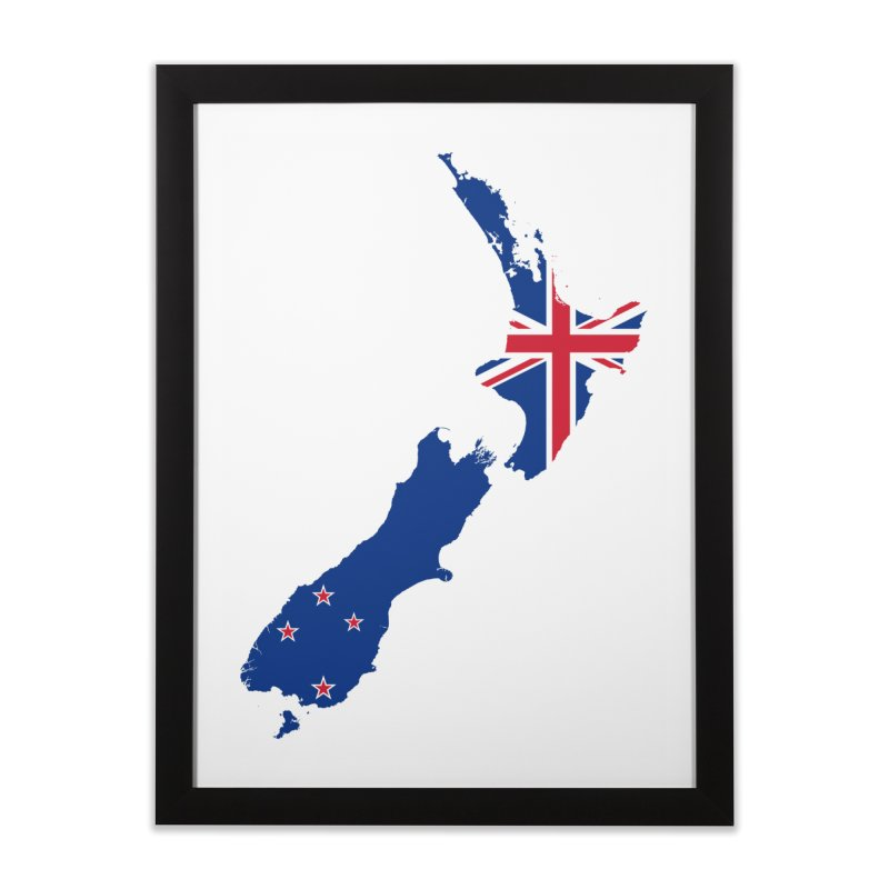New Zealand Patriot Home Products Home Framed Fine Art Print by Vectors NZ