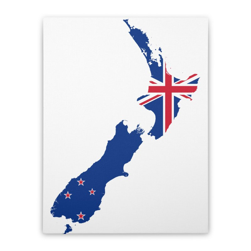New Zealand Patriot Home Products Home Stretched Canvas by Vectors NZ