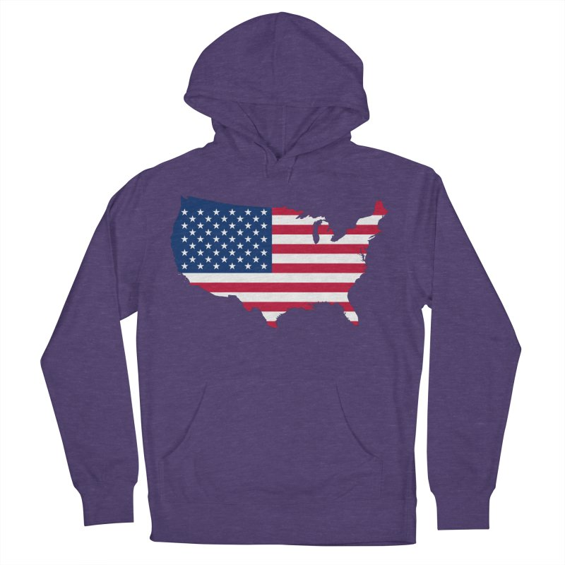 United States Patriot Apparel & Accessories Women's French Terry Pullover Hoody by Vectors NZ