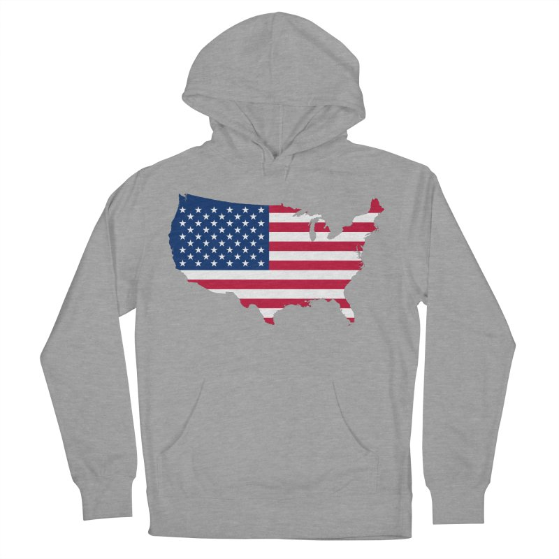 United States Patriot Apparel & Accessories Men's French Terry Pullover Hoody by Vectors NZ
