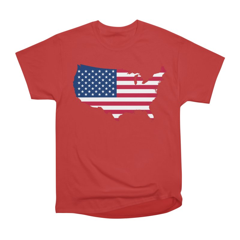 United States Patriot Apparel & Accessories Women's Heavyweight Unisex T-Shirt by Vectors NZ