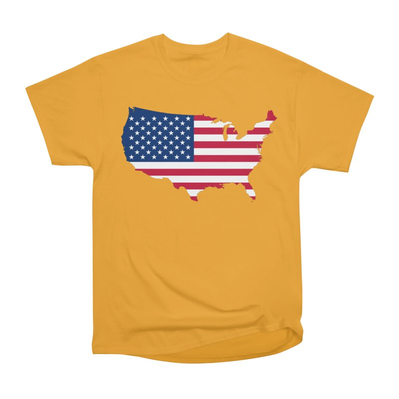 United States Patriot Apparel & Accessories Men's Heavyweight T-Shirt by Vectors NZ