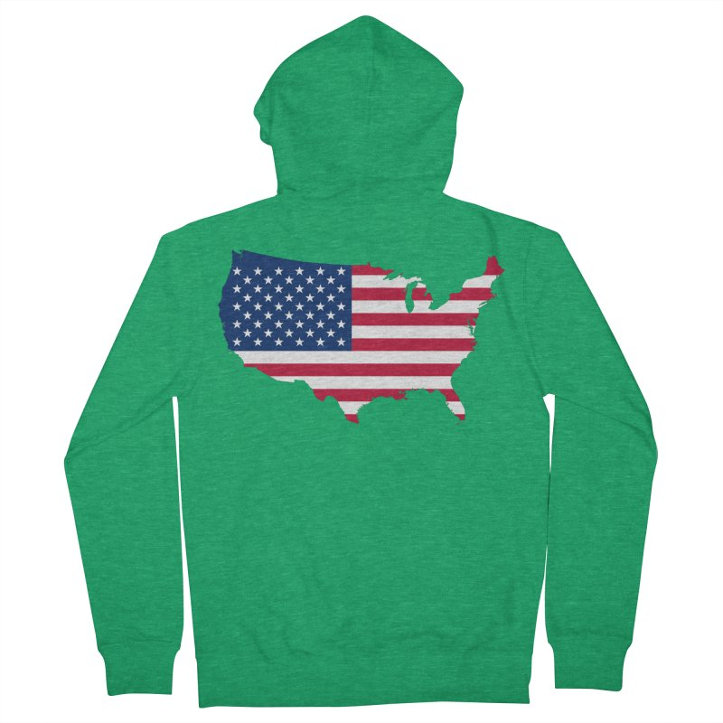 United States Patriot Apparel & Accessories Women's French Terry Zip-Up Hoody by Vectors NZ