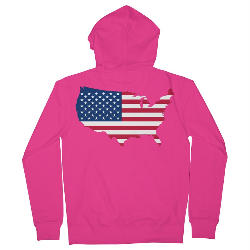 United States Patriot Apparel & Accessories Men's French Terry Zip-Up Hoody by Vectors NZ