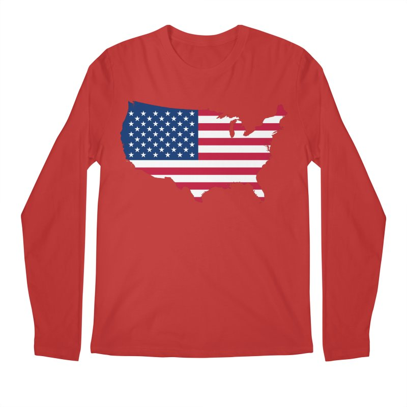 United States Patriot Apparel & Accessories Men's Regular Longsleeve T-Shirt by Vectors NZ
