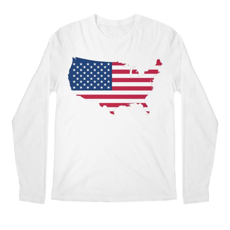 United States Patriot Apparel & Accessories Men's Regular Longsleeve T-Shirt by Vectors NZ