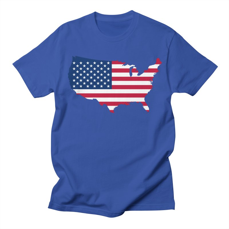 United States Patriot Apparel & Accessories Men's Regular T-Shirt by Vectors NZ