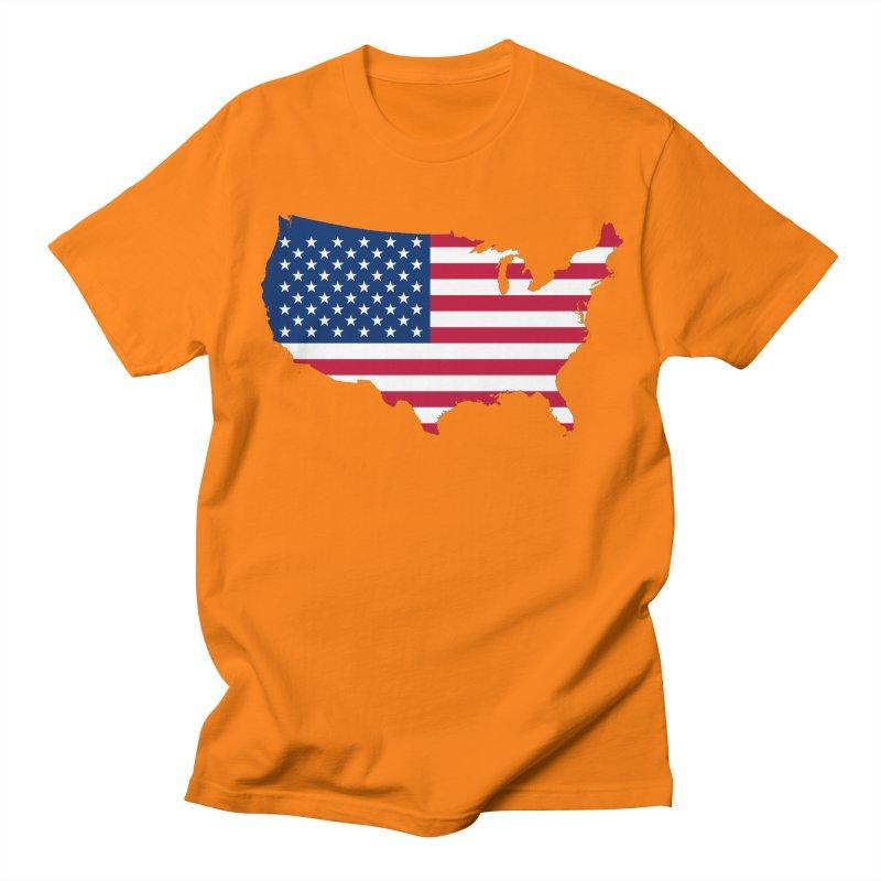 United States Patriot Apparel & Accessories Men's Regular T-Shirt by Vectors NZ