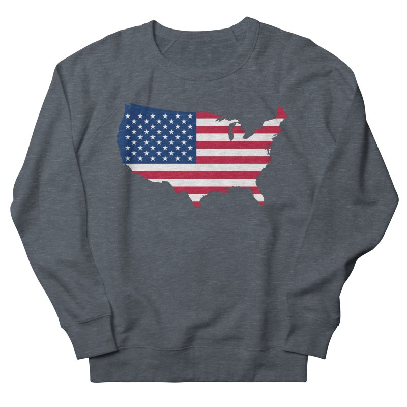 United States Patriot Apparel & Accessories Women's French Terry Sweatshirt by Vectors NZ