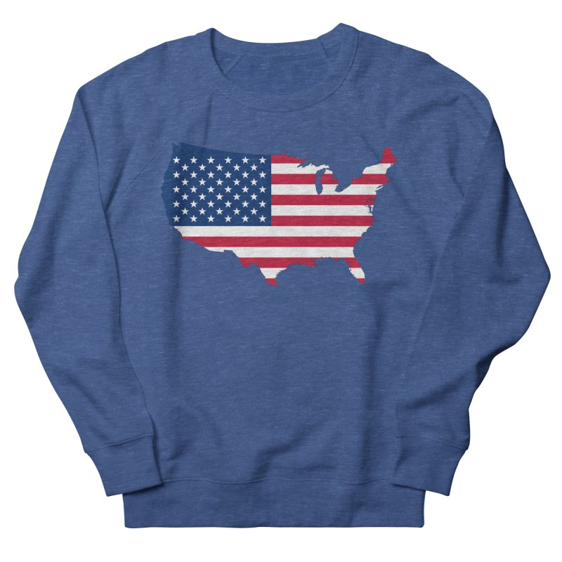 United States Patriot Apparel & Accessories Men's French Terry Sweatshirt by Vectors NZ