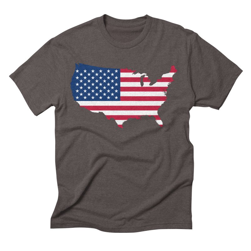 United States Patriot Apparel & Accessories Men's Triblend T-Shirt by Vectors NZ