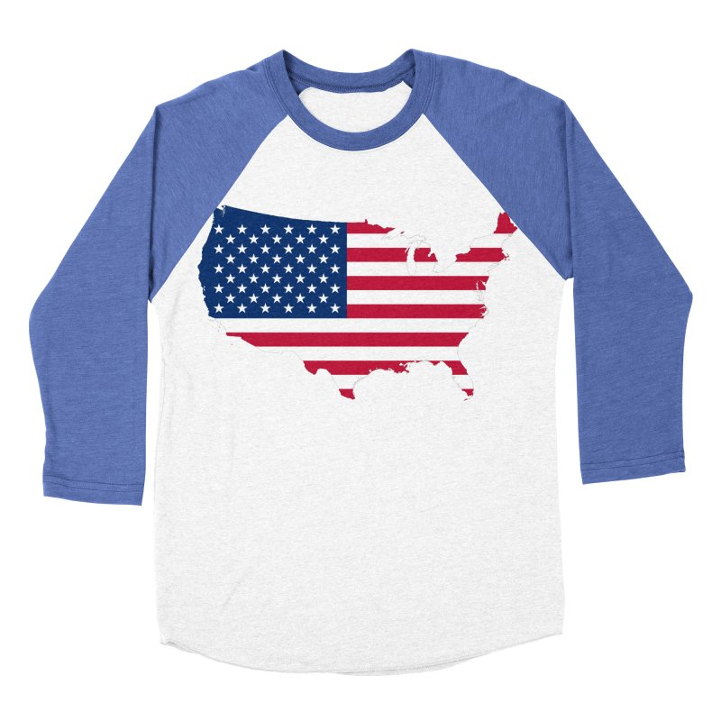 United States Patriot Apparel & Accessories Women's Baseball Triblend Longsleeve T-Shirt by Vectors NZ