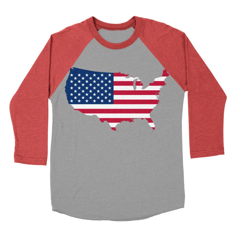 United States Patriot Apparel & Accessories Men's Baseball Triblend Longsleeve T-Shirt by Vectors NZ