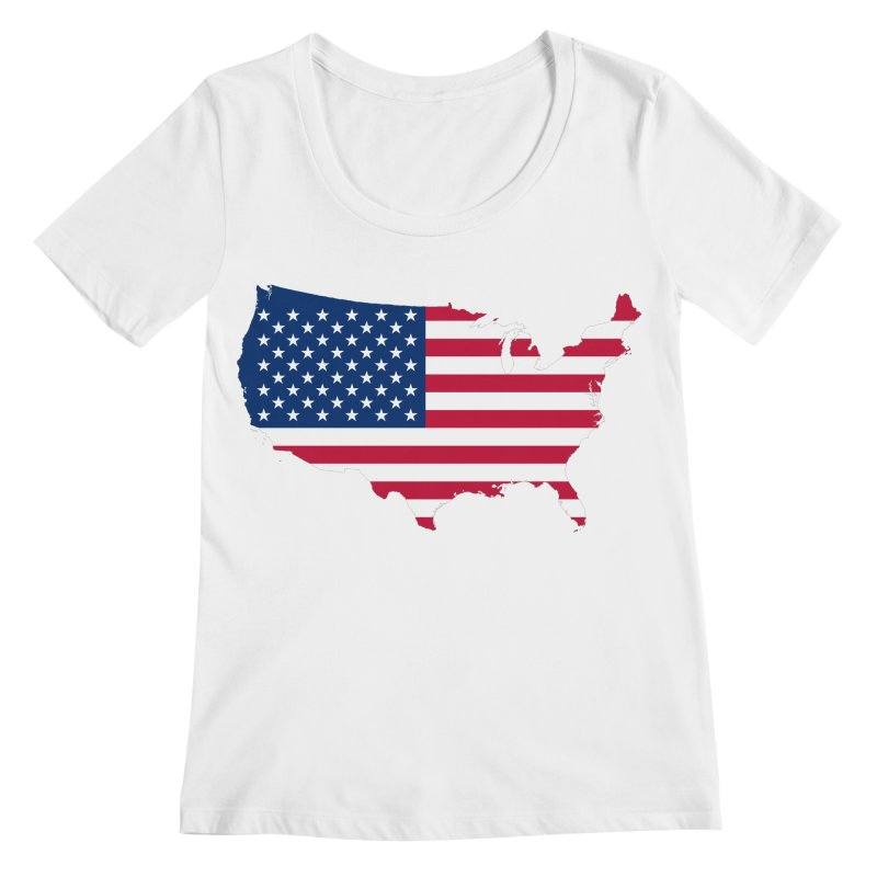 United States Patriot Apparel & Accessories Women's Regular Scoop Neck by Vectors NZ