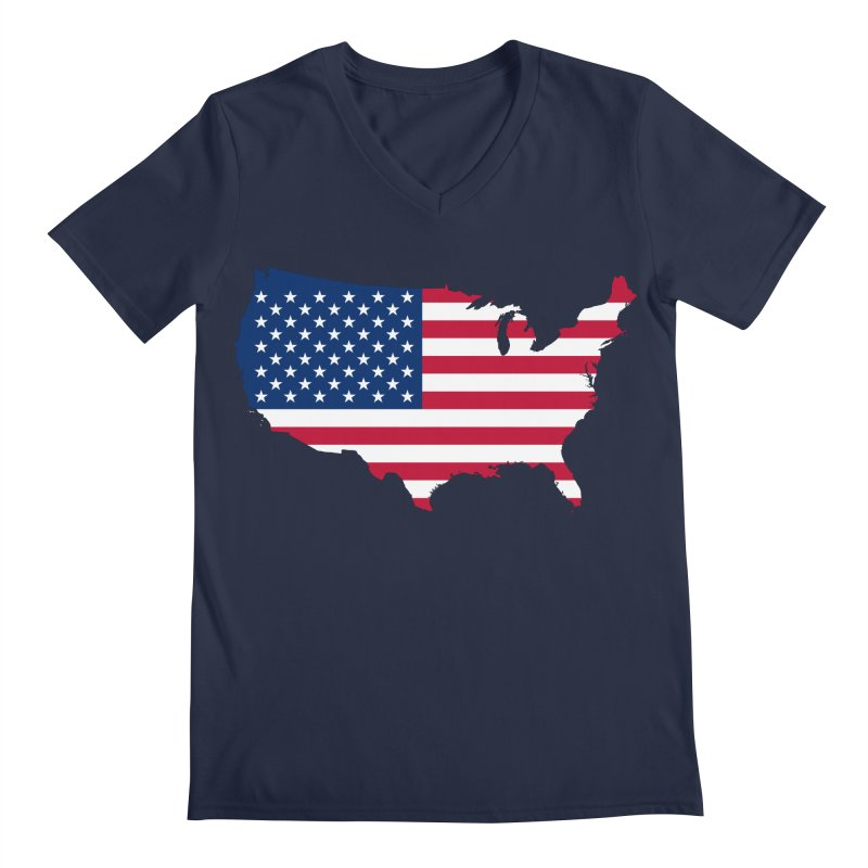 United States Patriot Apparel & Accessories Men's Regular V-Neck by Vectors NZ