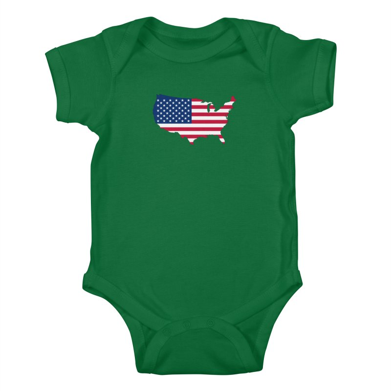 United States Patriot Apparel & Accessories Kids Baby Bodysuit by Vectors NZ