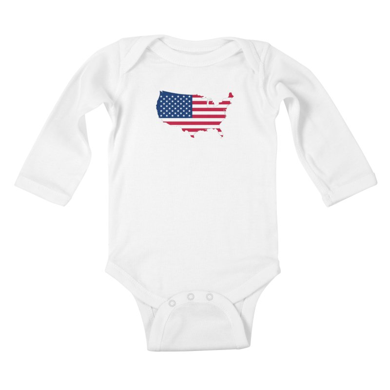 United States Patriot Apparel & Accessories Kids Baby Longsleeve Bodysuit by Vectors NZ