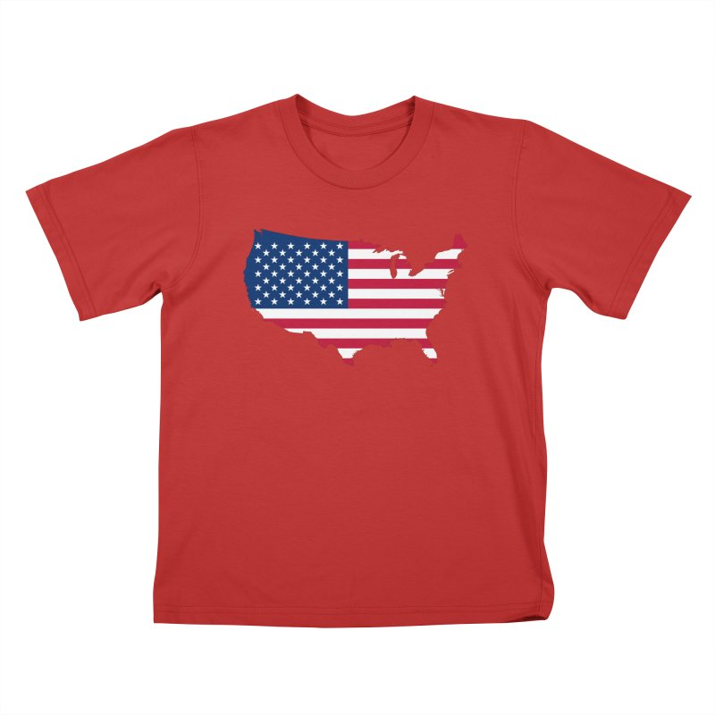 United States Patriot Apparel & Accessories Kids T-Shirt by Vectors NZ