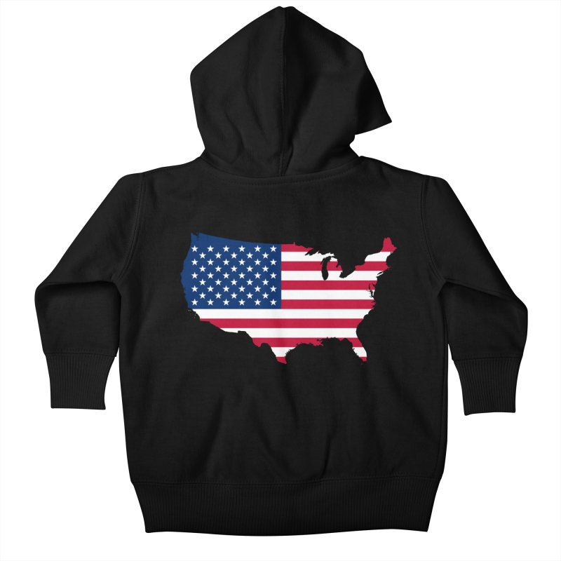 United States Patriot Apparel & Accessories Kids Baby Zip-Up Hoody by Vectors NZ