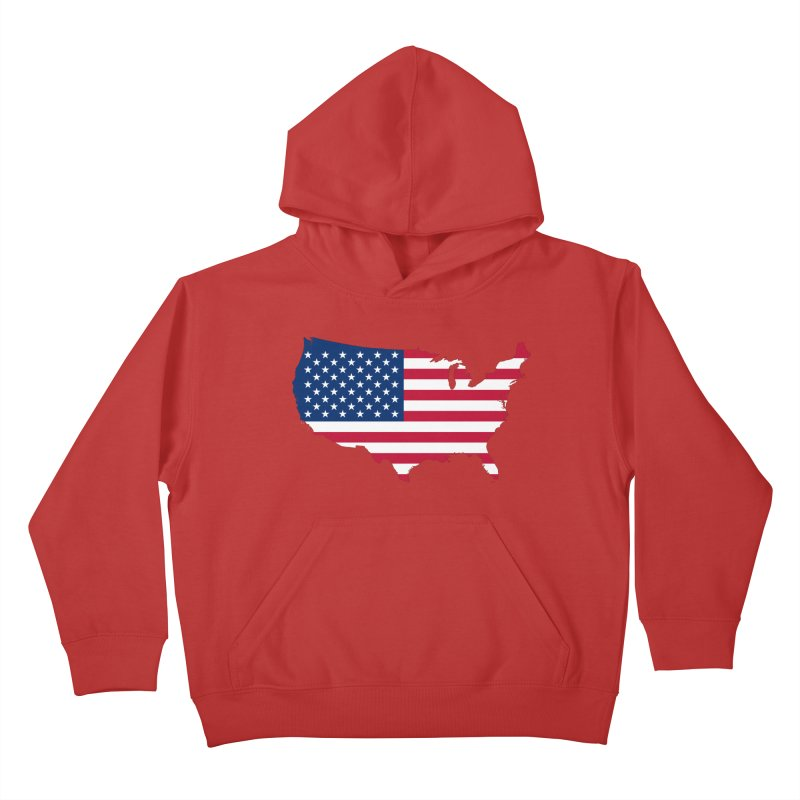 United States Patriot Apparel & Accessories Kids Pullover Hoody by Vectors NZ