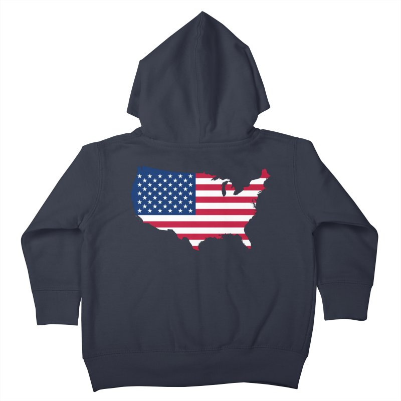 United States Patriot Apparel & Accessories Kids Toddler Zip-Up Hoody by Vectors NZ