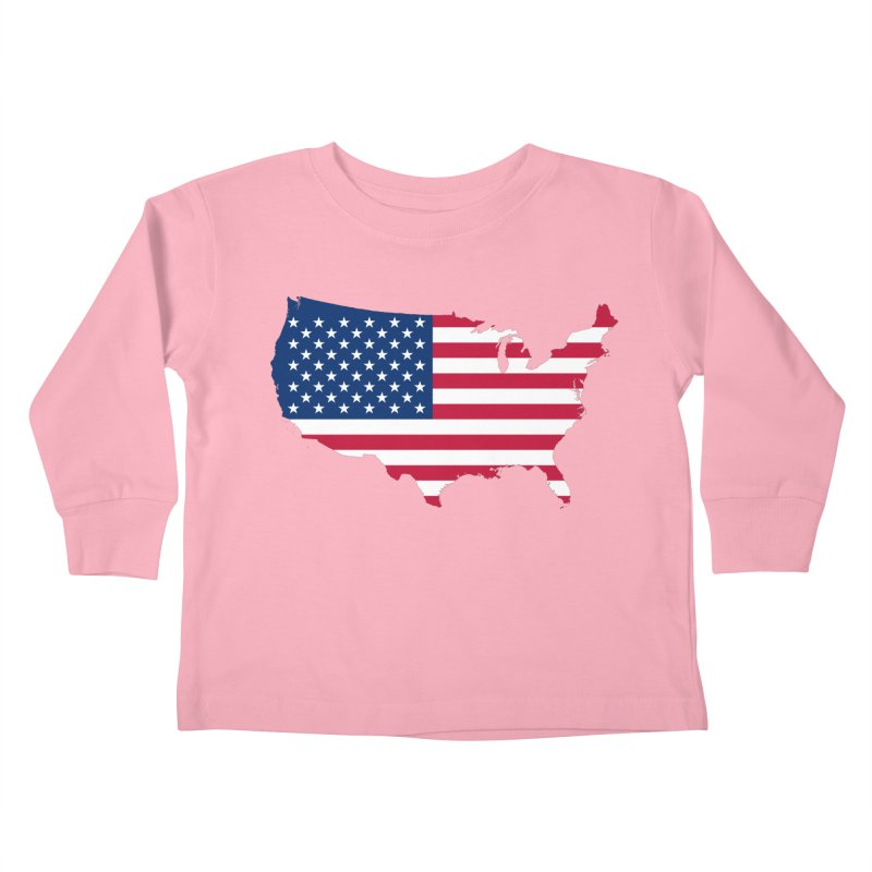 United States Patriot Apparel & Accessories Kids Toddler Longsleeve T-Shirt by Vectors NZ