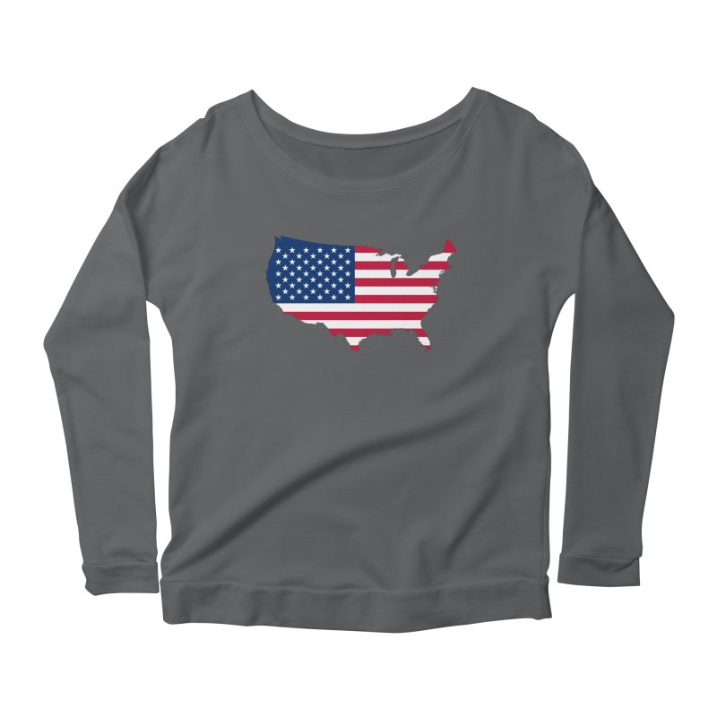 United States Patriot Apparel & Accessories Women's Scoop Neck Longsleeve T-Shirt by Vectors NZ