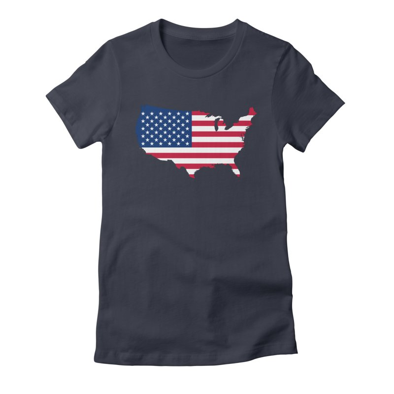 United States Patriot Apparel & Accessories Women's Fitted T-Shirt by Vectors NZ