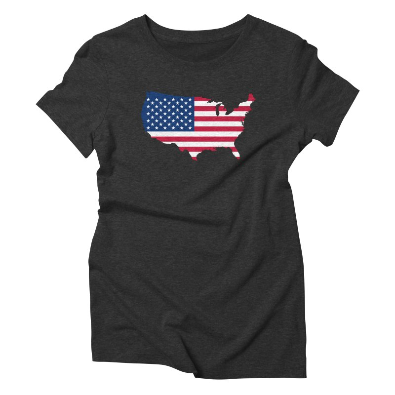 United States Patriot Apparel & Accessories Women's Triblend T-Shirt by Vectors NZ