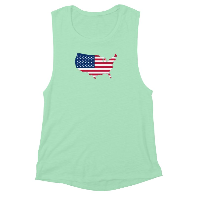 United States Patriot Apparel & Accessories Women's Muscle Tank by Vectors NZ