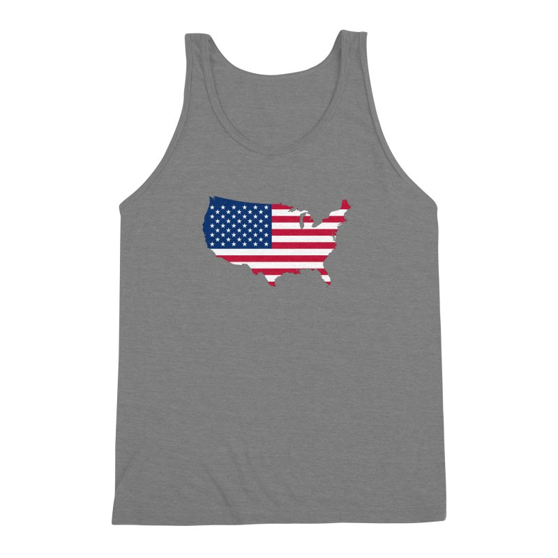 United States Patriot Apparel & Accessories Men's Triblend Tank by Vectors NZ