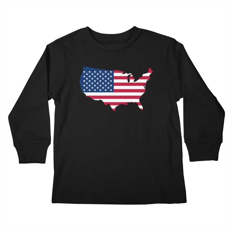 United States Patriot Apparel & Accessories Kids Longsleeve T-Shirt by Vectors NZ