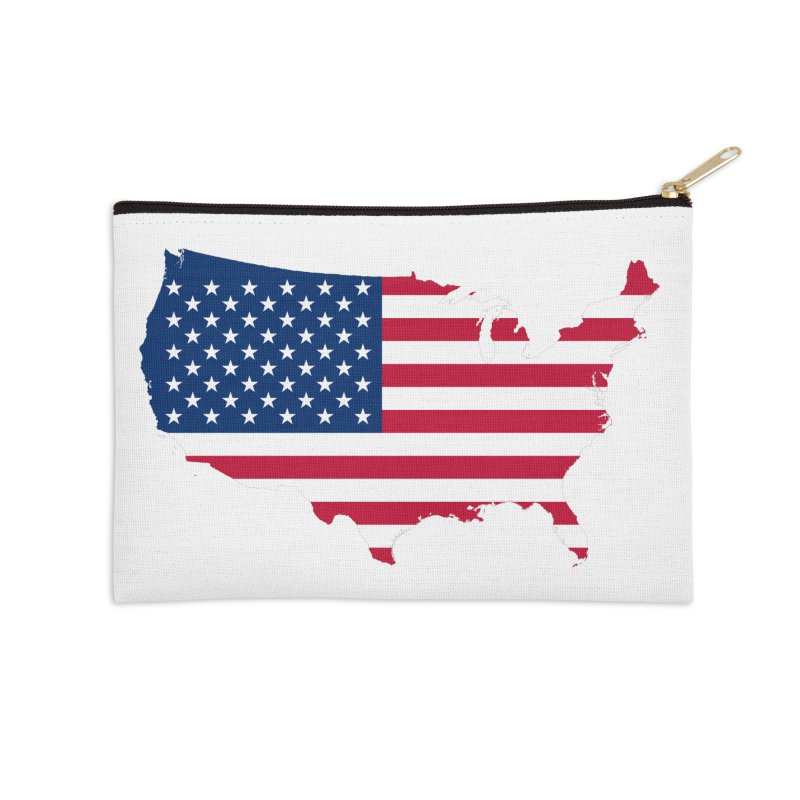 United States Patriot Apparel & Accessories Accessories Zip Pouch by Vectors NZ