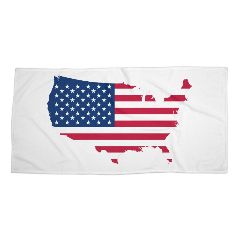 United States Patriot Apparel & Accessories Accessories Beach Towel by Vectors NZ