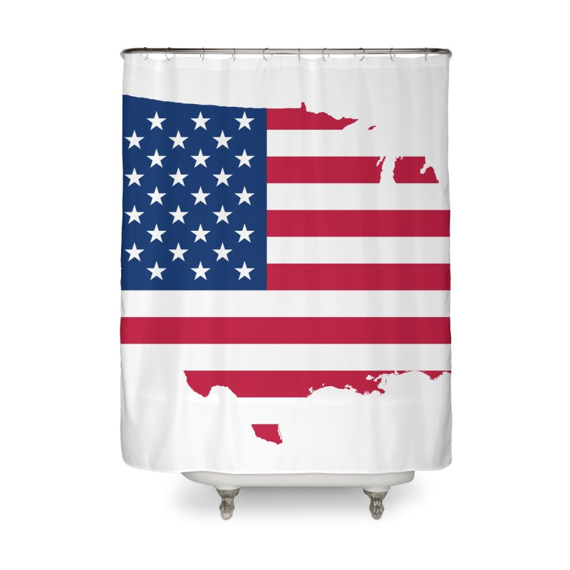 United States Patriot Home Products Home Shower Curtain by Vectors NZ