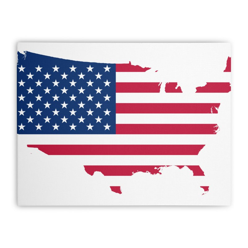 United States Patriot Home Products Home Stretched Canvas by Vectors NZ