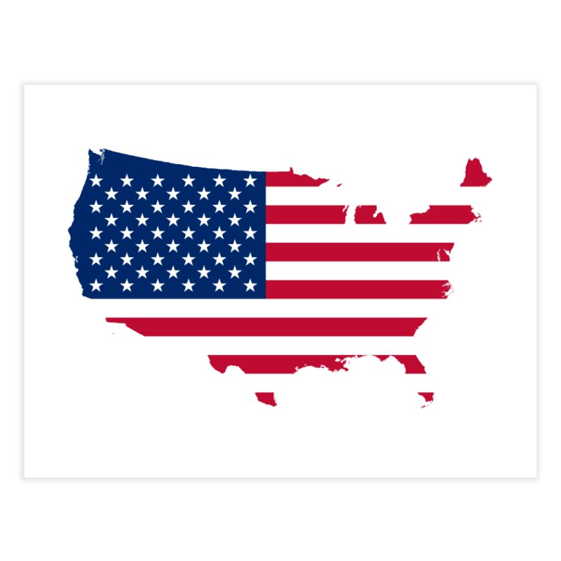 United States Patriot Home Products Home Fine Art Print by Vectors NZ