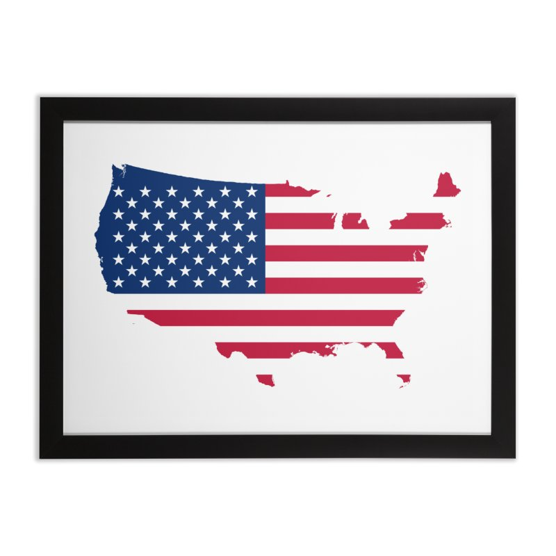 United States Patriot Home Products Home Framed Fine Art Print by Vectors NZ