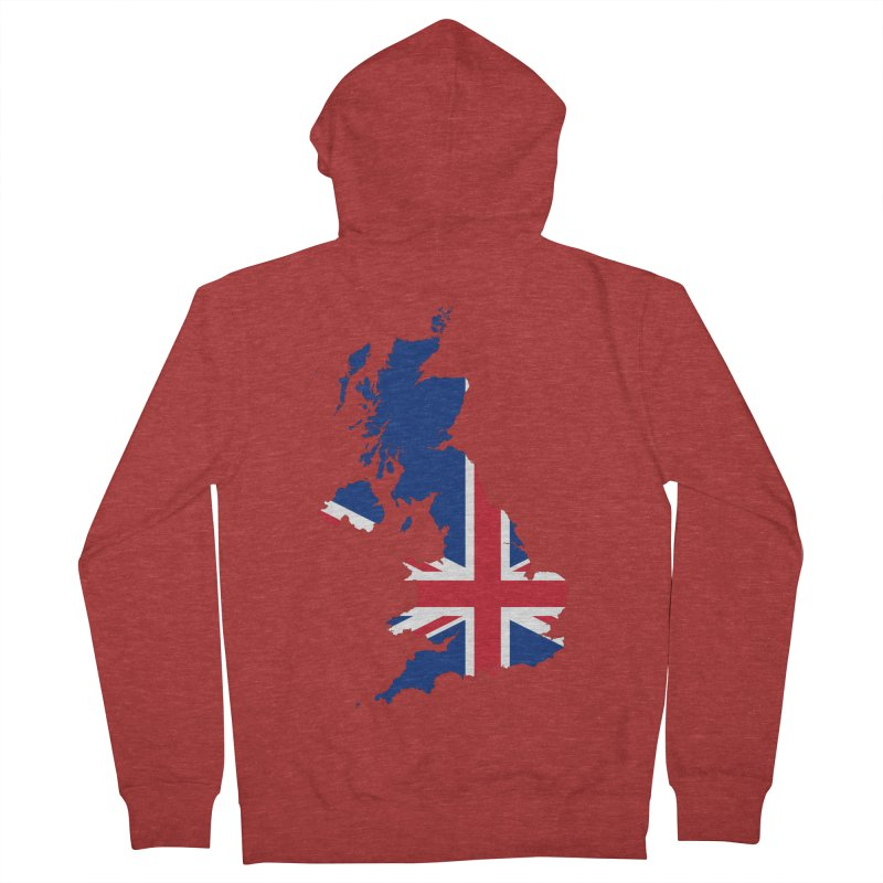 United Kingdom Patriot Apparel & Accessories Men's French Terry Zip-Up Hoody by Vectors NZ