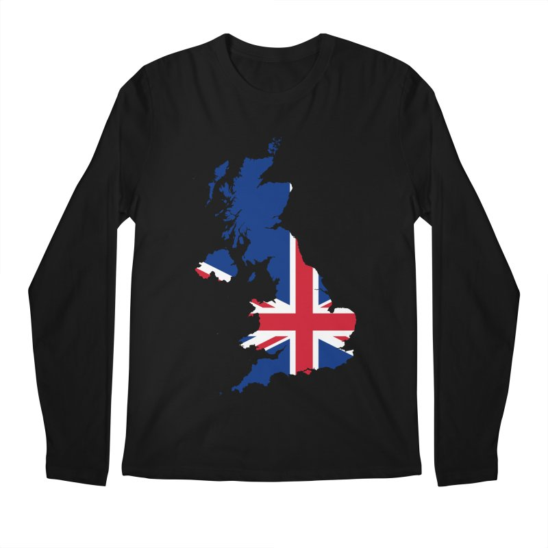 United Kingdom Patriot Apparel & Accessories Men's Regular Longsleeve T-Shirt by Vectors NZ