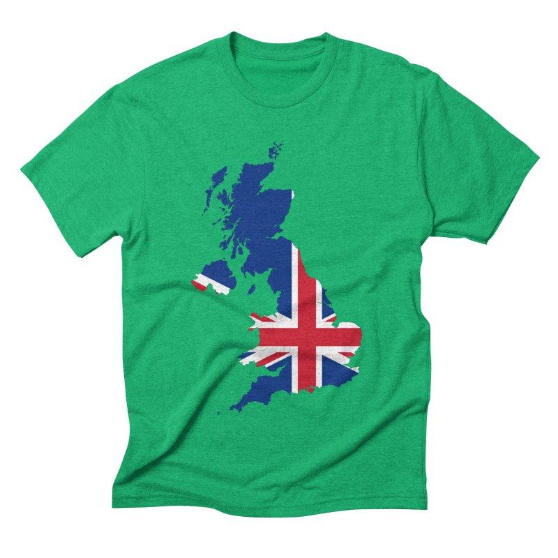 United Kingdom Patriot Apparel & Accessories Men's Triblend T-Shirt by Vectors NZ