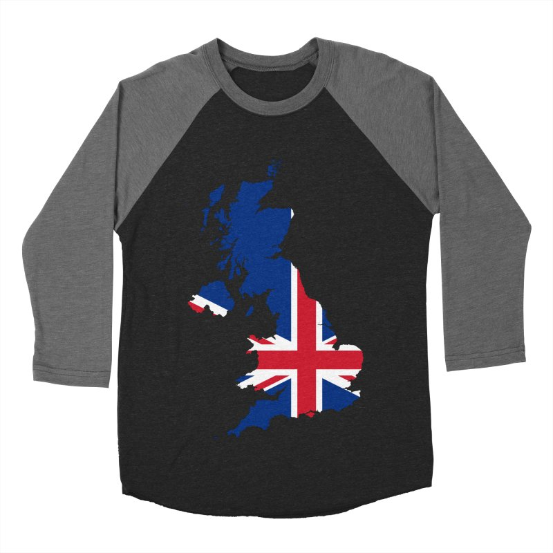 United Kingdom Patriot Apparel & Accessories Men's Baseball Triblend Longsleeve T-Shirt by Vectors NZ