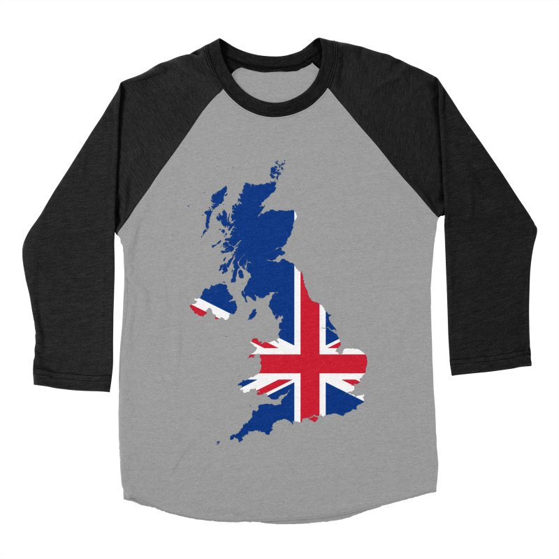United Kingdom Patriot Apparel & Accessories Men's Baseball Triblend Longsleeve T-Shirt by Vectors NZ