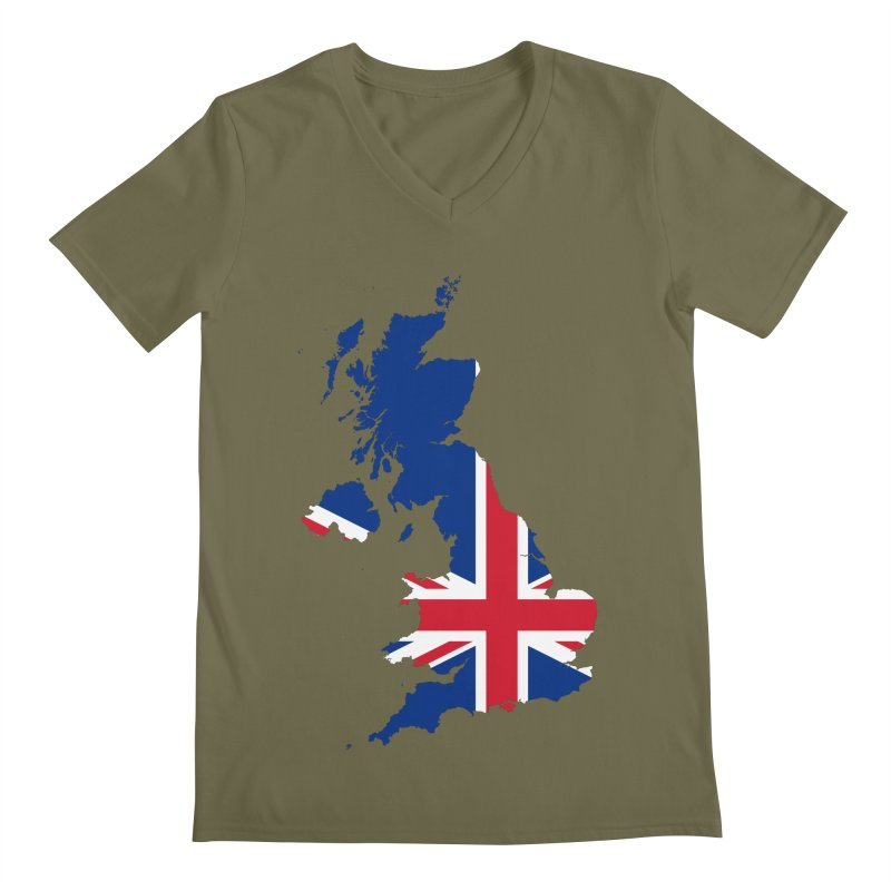 United Kingdom Patriot Apparel & Accessories Men's Regular V-Neck by Vectors NZ